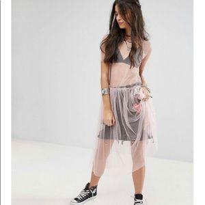 Mesh smock  dress